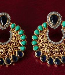 Buy Turquoise & Blue Filigree Earrings stud online