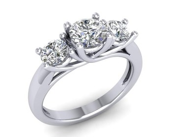 Micreation Brand New Cubic Zirconia Sterling Silver Ring Model No.MSR0002
