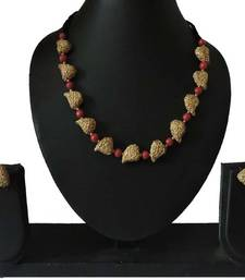 Buy Hand painted bunch of golden mangos with red beads terracotta-jewelry online