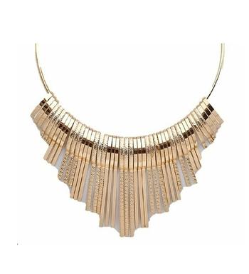 Golden plain choker necklaces
