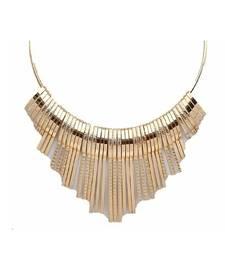 Buy Golden plain choker necklaces party-jewellery online