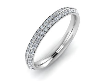 Micreation Brand New Cubic Zirconia Sterling Silver Ring Model No.MSR0014