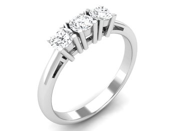 Micreation Brand New Cubic Zirconia Sterling Silver Ring Model No.MSR0016