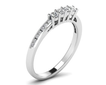 Micreation Brand New Cubic Zirconia Sterling Silver Ring Model No.MSR0026