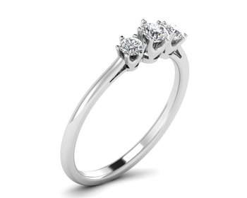 Micreation Brand New Cubic Zirconia Sterling Silver Ring Model No.MSR0028