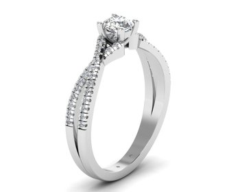 Micreation Brand New Cubic Zirconia Sterling Silver Ring Model No.MSR0030