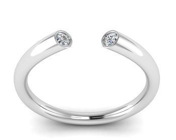 Micreation Brand New Cubic Zirconia Sterling Silver Ring Model No.MSR0032