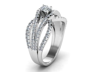 Micreation Brand New Cubic Zirconia Sterling Silver Ring Model No.MSR0033