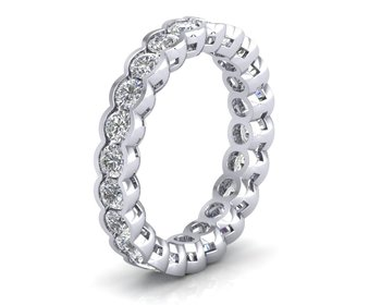 Micreation Brand New Cubic Zirconia Sterling Silver Ring Model No.MSR0036