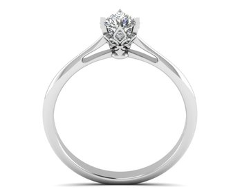 Micreation Brand New Cubic Zirconia Sterling Silver Ring Model No.MSR0038