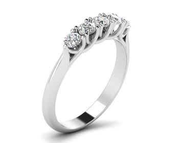 Micreation Brand New Cubic Zirconia Sterling Silver Ring Model No.MSR0039