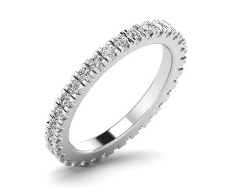 Micreation Brand New Cubic Zirconia Sterling Silver Ring Model No.MSR0041