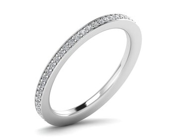 Micreation Brand New Cubic Zirconia Sterling Silver Ring Model No.MSR0043