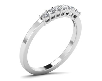 Micreation Brand New Cubic Zirconia Sterling Silver Ring Model No.MSR0047
