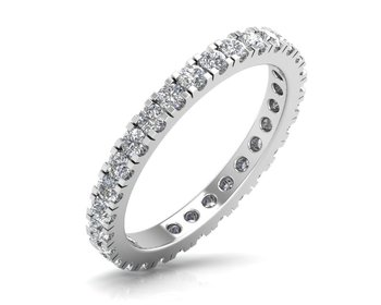 Micreation Brand New Cubic Zirconia Sterling Silver Ring Model No.MSR0048