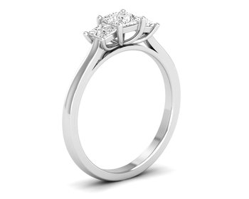 Micreation Brand New Cubic Zirconia Sterling Silver Ring Model No.MSR0049