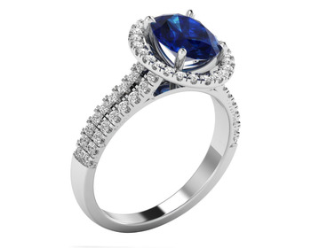 Micreation Brand New Cubic Zirconia Sterling Silver Ring Model No.MSR0050