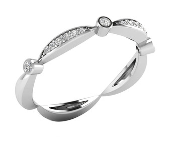 Micreation Brand New Cubic Zirconia Sterling Silver Ring Model No.MSR0053