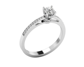 Micreation Brand New Cubic Zirconia Sterling Silver Ring Model No.MSR0055