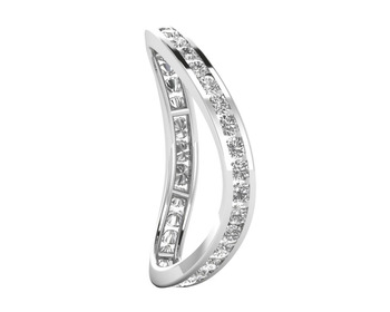 Micreation Brand New Cubic Zirconia Sterling Silver Ring Model No.MSR0062
