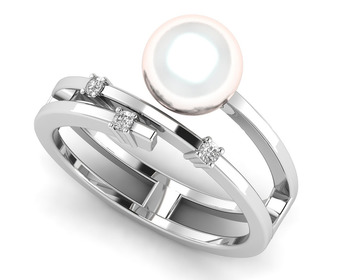 Micreation Brand New Cubic Zirconia Sterling Silver Ring Model No.MSR0065
