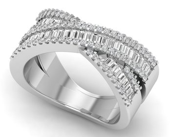 Micreation Brand New Cubic Zirconia Sterling Silver Ring Model No.MSR0075