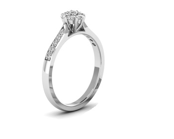 Micreation Brand New Cubic Zirconia Sterling Silver Ring Model No.MSR0077