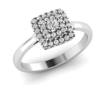 Micreation Brand New Cubic Zirconia Sterling Silver Ring Model No.MSR0078