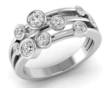 Micreation Brand New Cubic Zirconia Sterling Silver Ring Model No.MSR0082