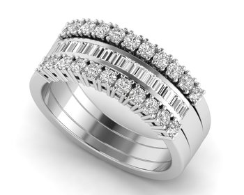 Micreation Brand New Cubic Zirconia Sterling Silver Ring Model No.MSR0083