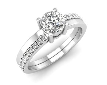 Micreation Brand New Cubic Zirconia Sterling Silver Ring Model No.MSR0085
