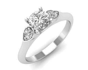 Micreation Brand New Cubic Zirconia Sterling Silver Ring Model No.MSR0087