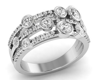Micreation Brand New Cubic Zirconia Sterling Silver Ring Model No.MSR0088