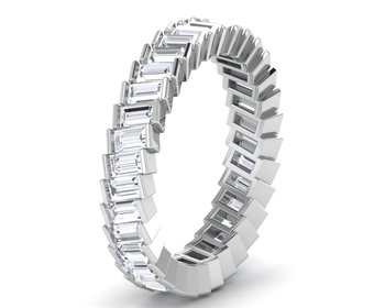 Micreation Brand New Cubic Zirconia Sterling Silver Ring Model No.MSR0090