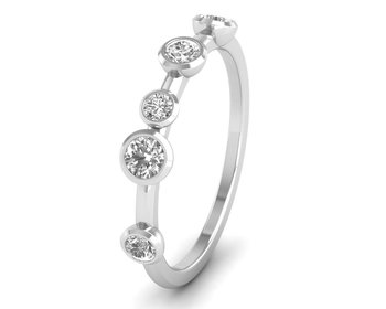 Micreation Brand New Cubic Zirconia Sterling Silver Ring Model No.MSR0093