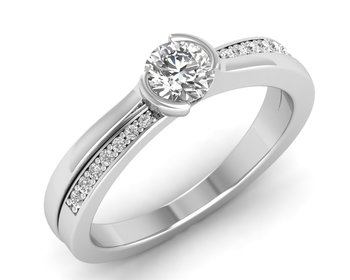 Micreation Brand New Cubic Zirconia Sterling Silver Ring Model No.MSR0094