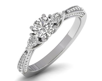 Micreation Brand New Cubic Zirconia Sterling Silver Ring Model No.MSR0095