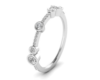Micreation Brand New Cubic Zirconia Sterling Silver Ring Model No.MSR0096
