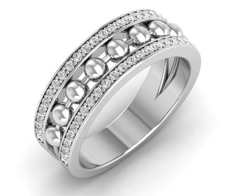 Micreation Brand New Cubic Zirconia Sterling Silver Ring Model No.MSR0098