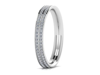 Micreation Brand New Cubic Zirconia Sterling Silver Ring Model No.MSR0124