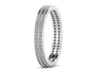 Micreation Brand New Cubic Zirconia Sterling Silver Ring Model No.MSR0128