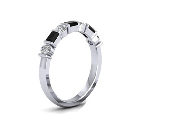 Micreation Brand New Cubic Zirconia Sterling Silver Ring Model No.MSR0131