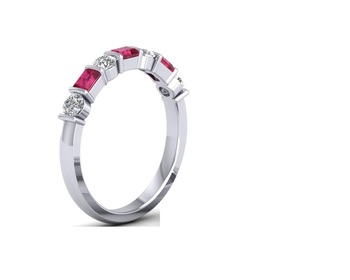 Micreation Brand New Cubic Zirconia Sterling Silver Ring Model No.MSR0133