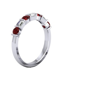 Micreation Brand New Cubic Zirconia Sterling Silver Ring Model No.MSR0134