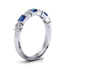 Micreation Brand New Cubic Zirconia Sterling Silver Ring Model No.MSR0135