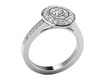 Micreation Brand New Cubic Zirconia Sterling Silver Ring Model No.MSR0137