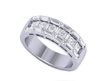 Micreation Brand New Cubic Zirconia Sterling Silver Ring Model No.MSR0140