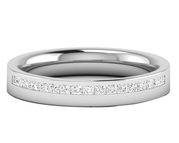 Micreation Brand New Cubic Zirconia Sterling Silver Ring Model No.MSR0142
