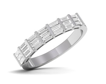 Micreation Brand New Cubic Zirconia Sterling Silver Ring Model No.MSR0148