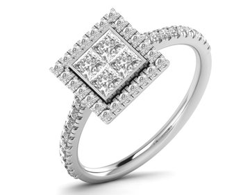 Micreation Brand New Cubic Zirconia Sterling Silver Ring Model No.MSR0152